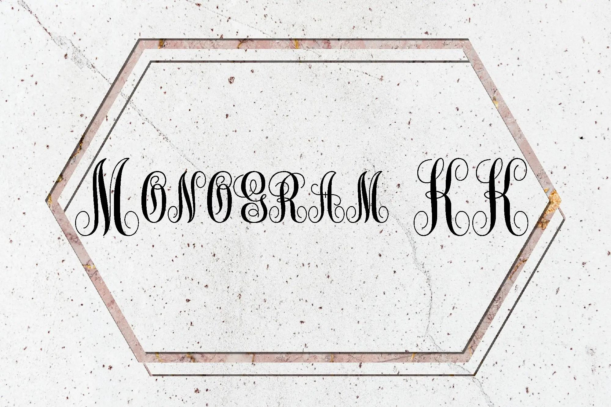 Monogram KK Fancy Font -1