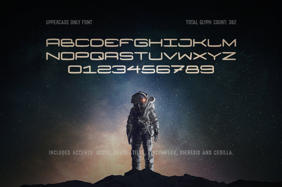 Moon Futuristic Display Font-3