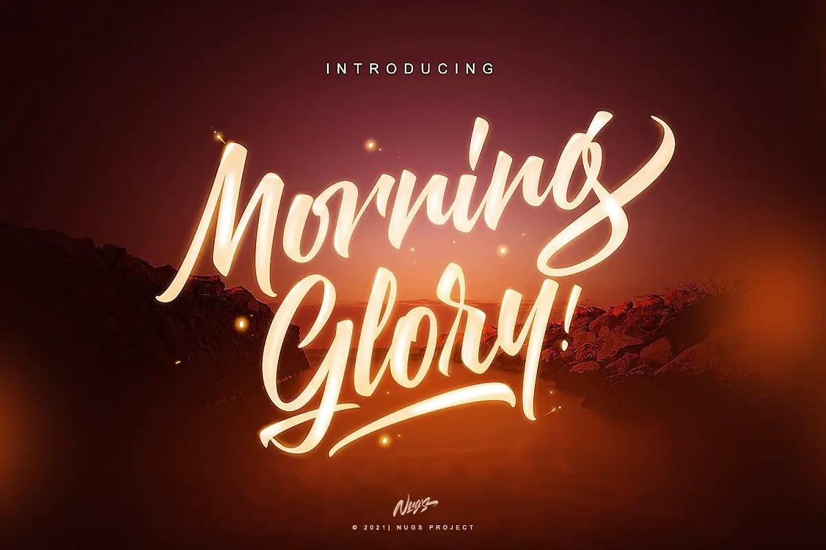 Morning Glory Bold Script Font-1