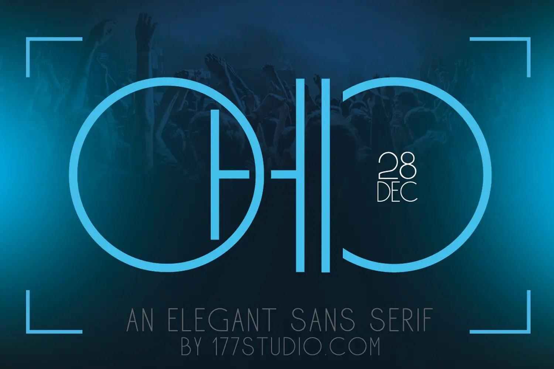 Ohio - Futuristic Sans Serif Font-1