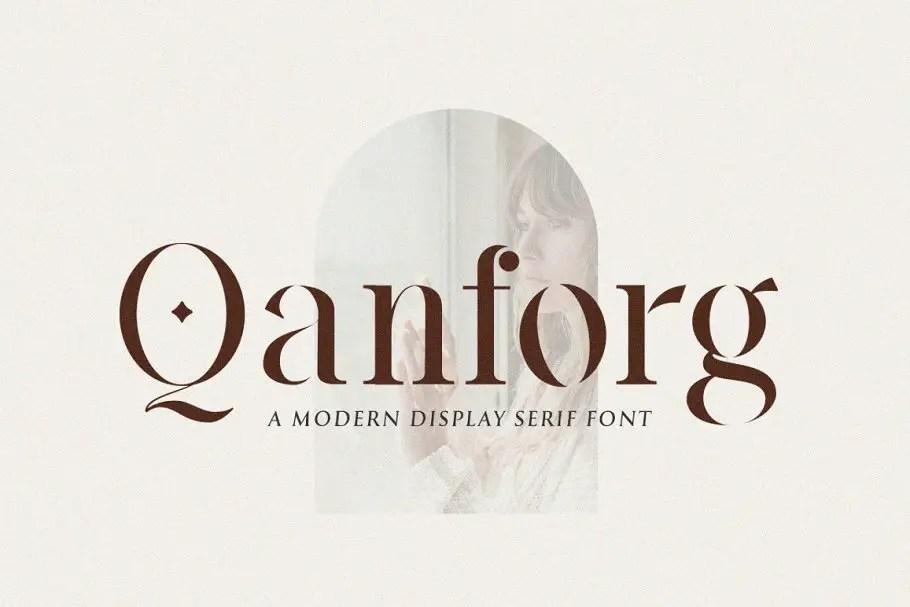 Qanforg Display Serif Font -1