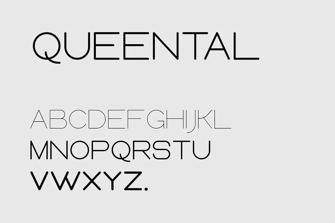 Queental Elegant Sans Font Family -3