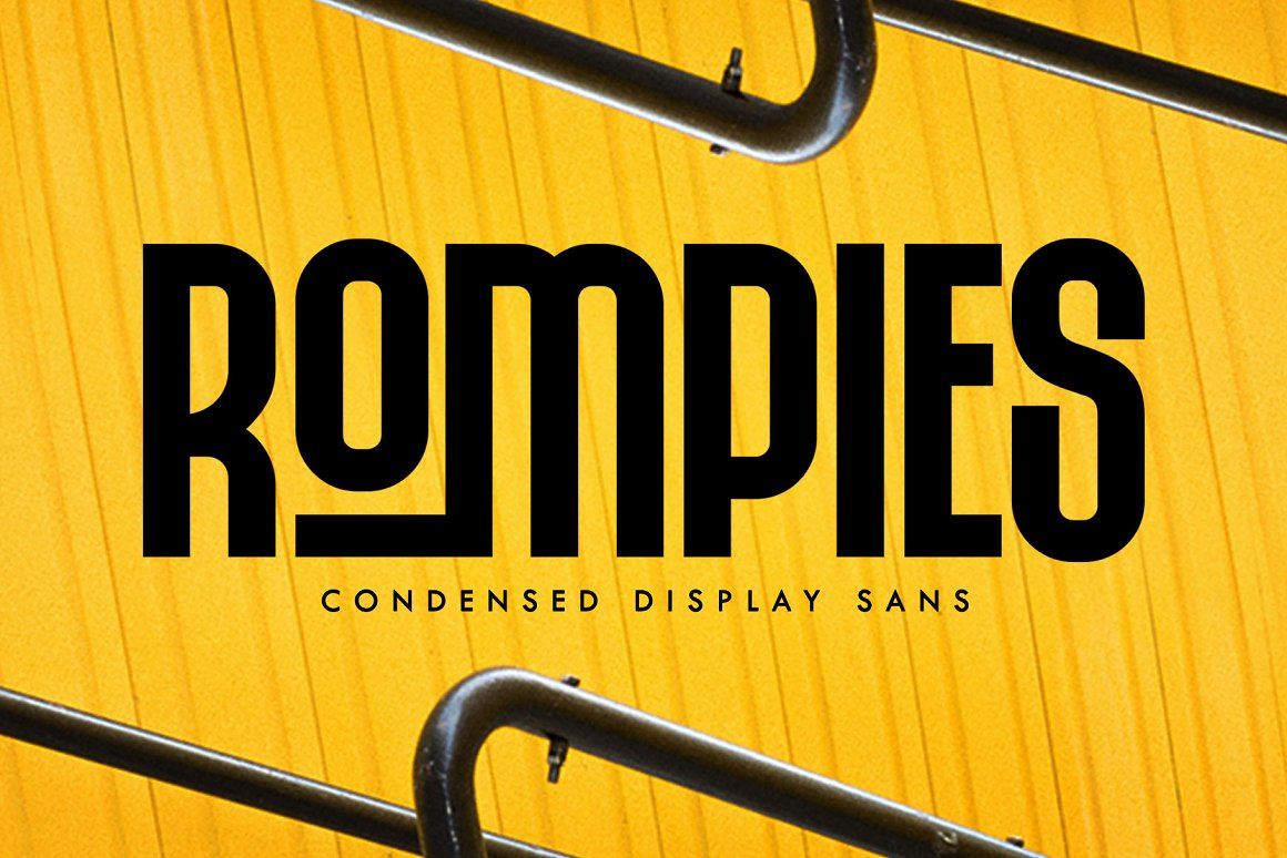 Rompies Condensed Display Sans Font -1