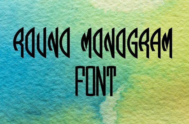 Round Monogram Font