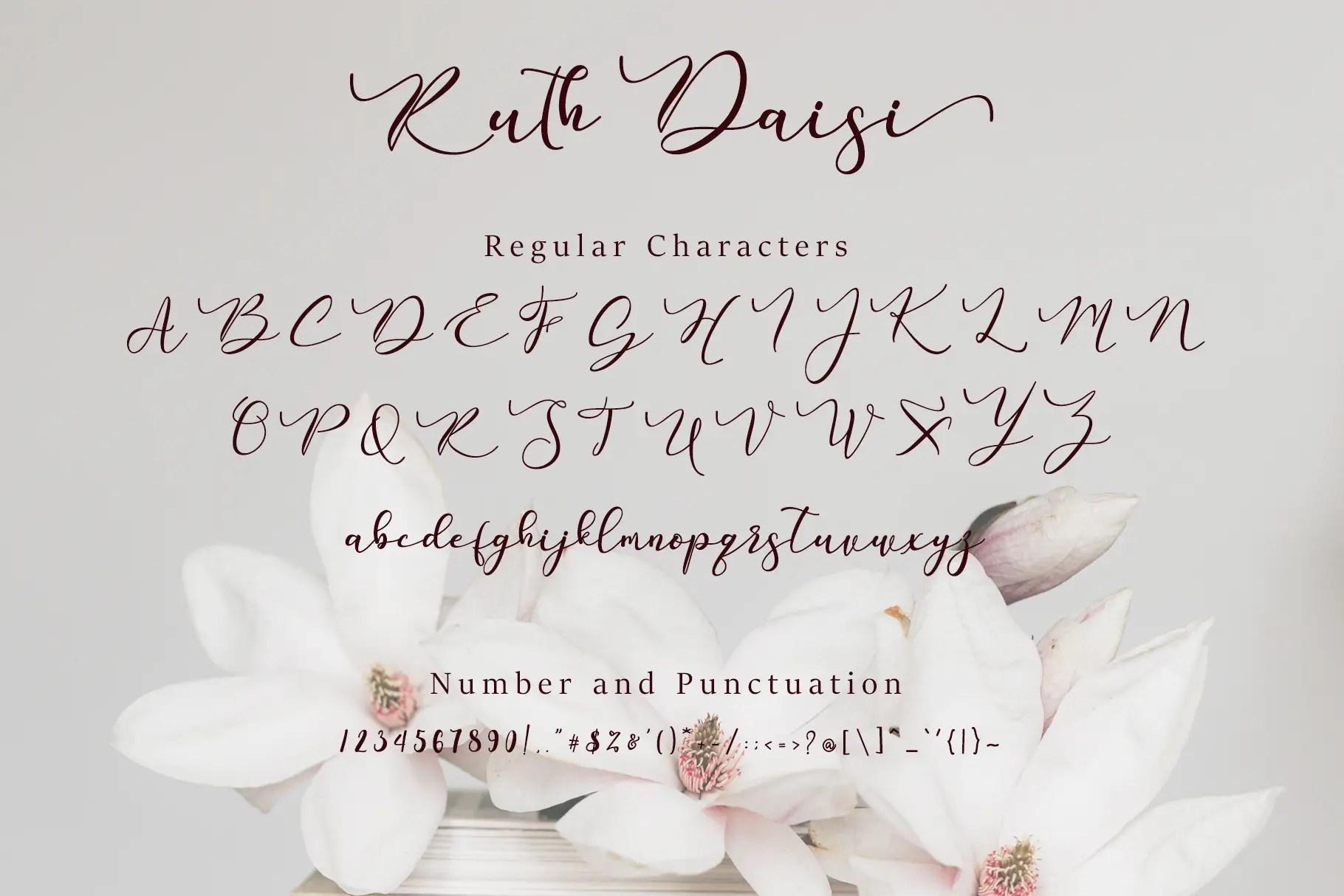 Ruth Daisi Calligraphy Font -3