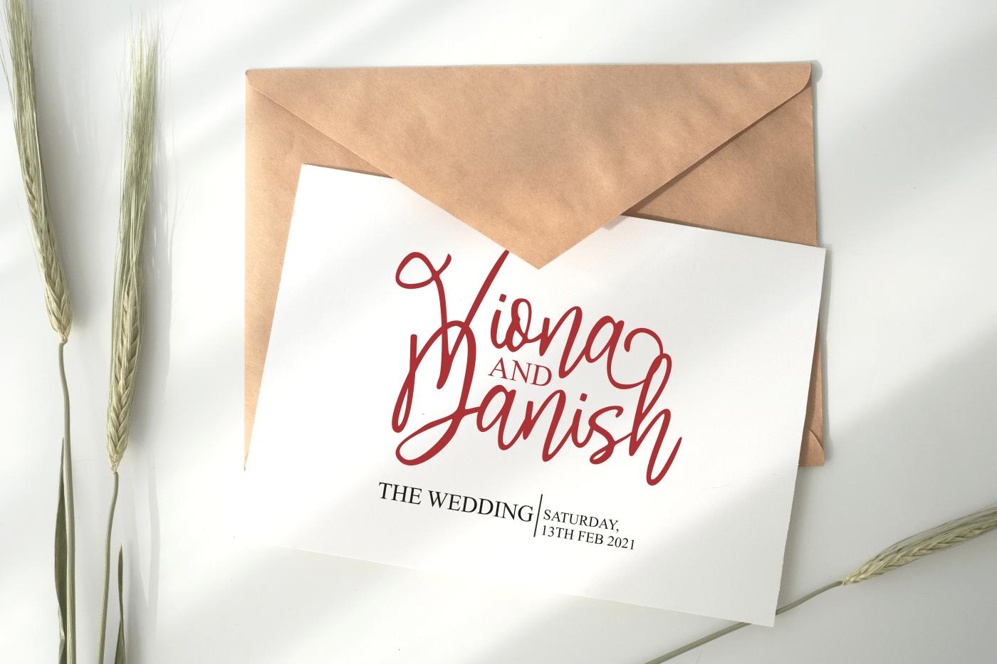 Saturday Wishes Stylish Handwritten Font -2