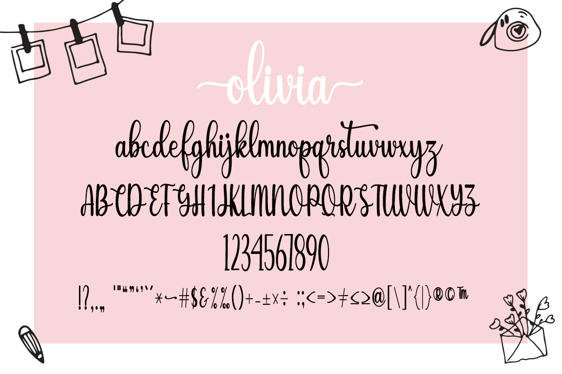 Sunshine Olivia Script Font-1