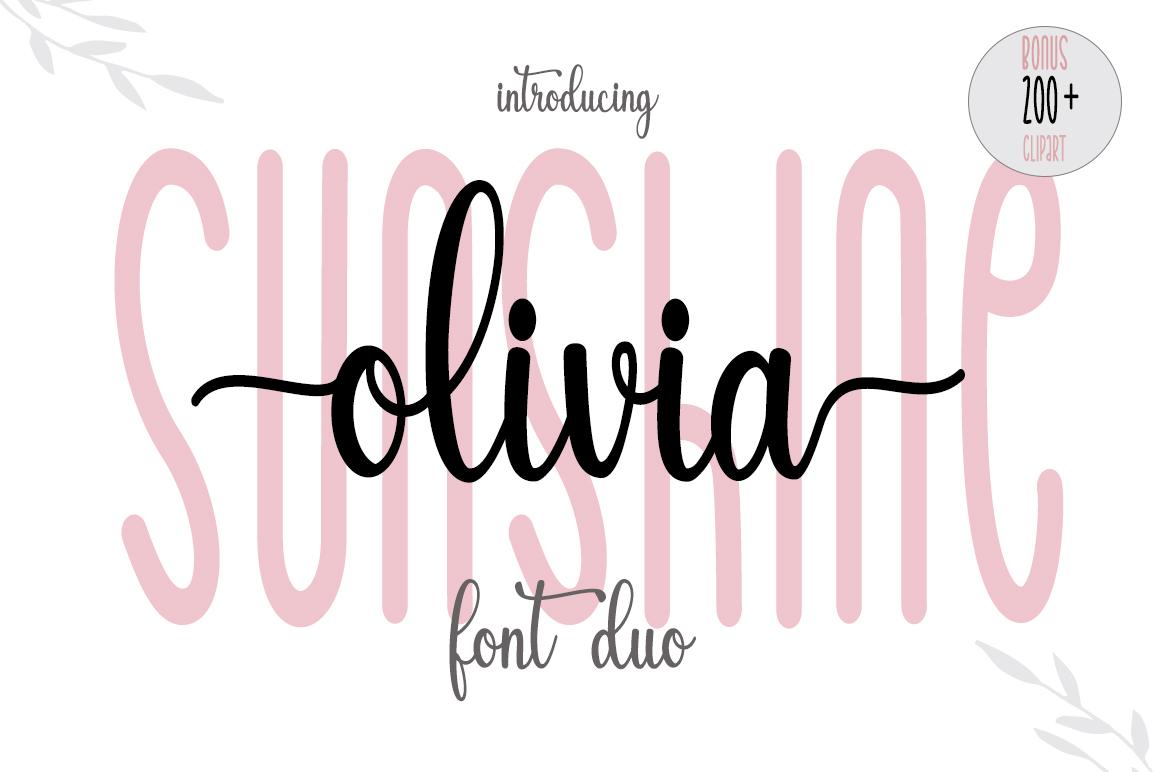 Sunshine Olivia Script Font-3