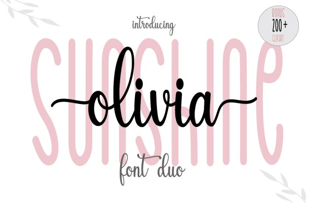 Sunshine Olivia Font Duo