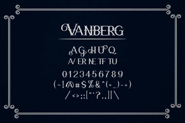 Vanberg Blackletter Font -3