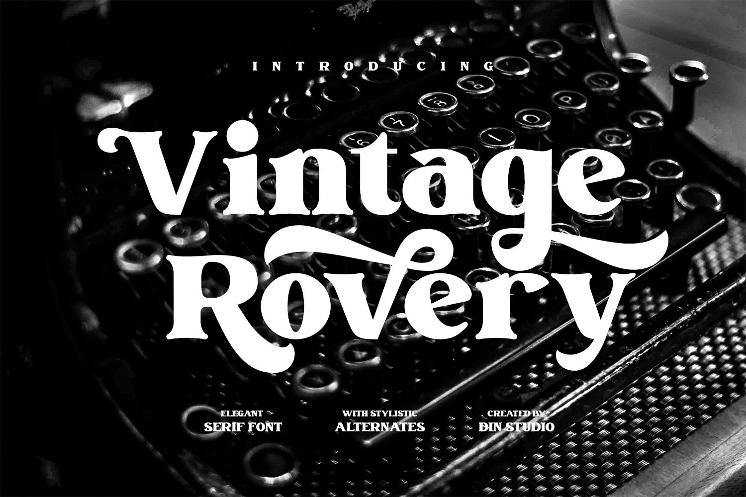 Vintage Rovery Serif Font -1