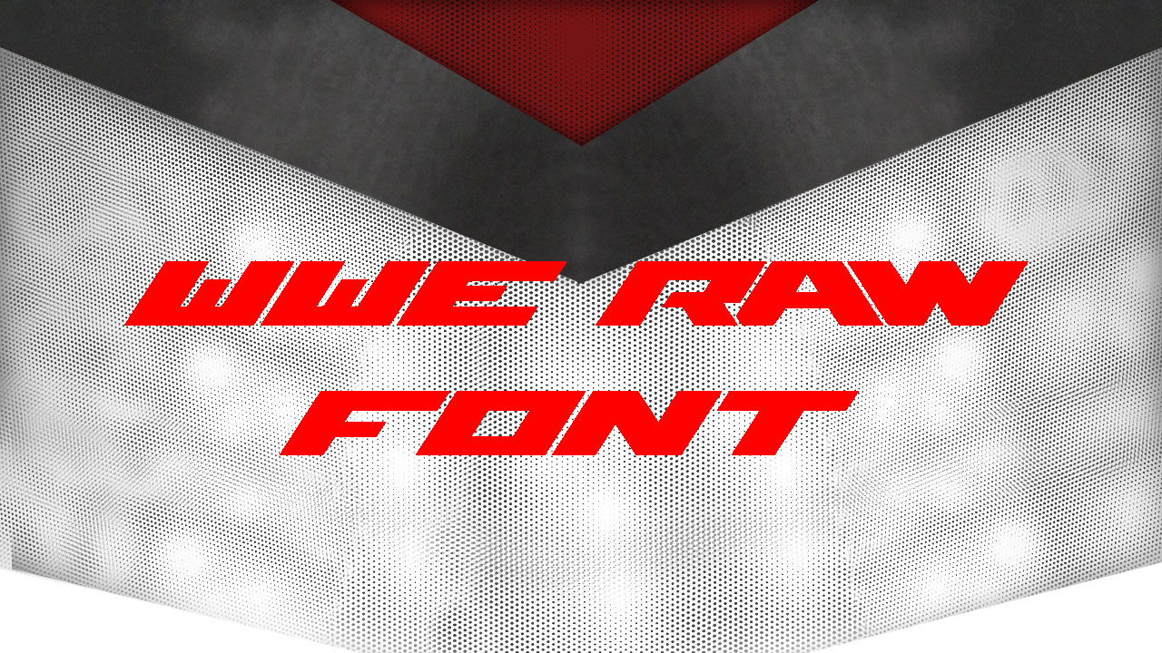 WWE Raw Techno Font -01