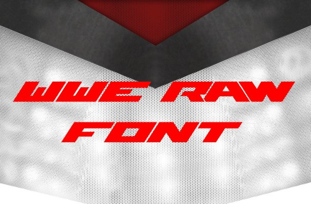 WWE Raw Font