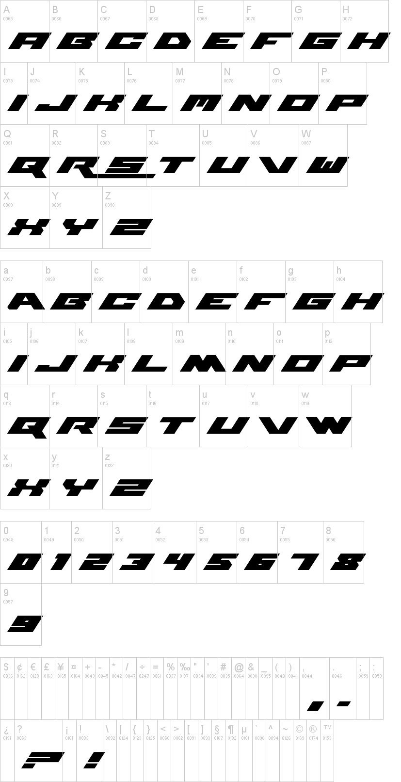 WWE Raw Techno Font -02