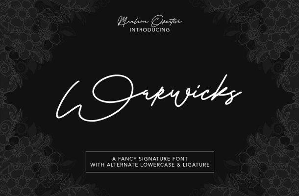 Warwicks Font