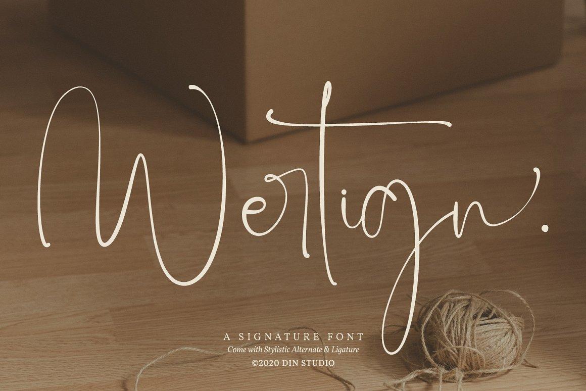 Wertign Signature Calligraphy Font -1