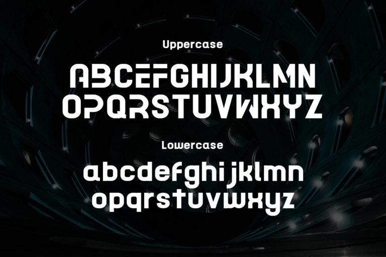 Acetone Futuristic Sans Display Font -2
