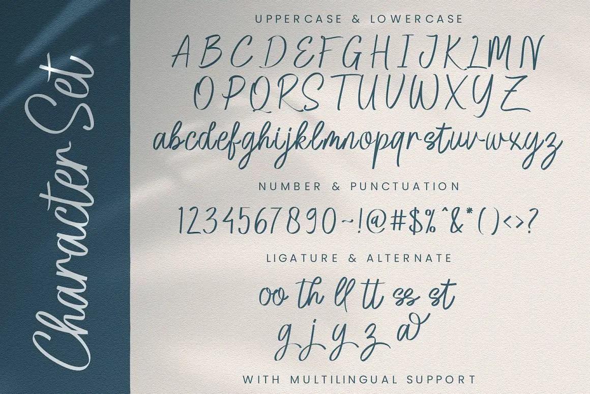 Agia Valley Handwritten Script Font -3