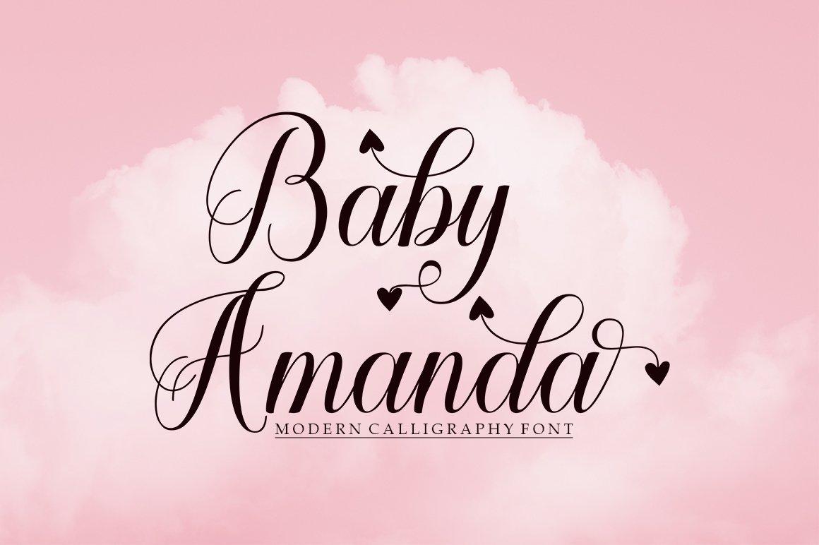 Baby Amanda Modern Calligraphy Font -1
