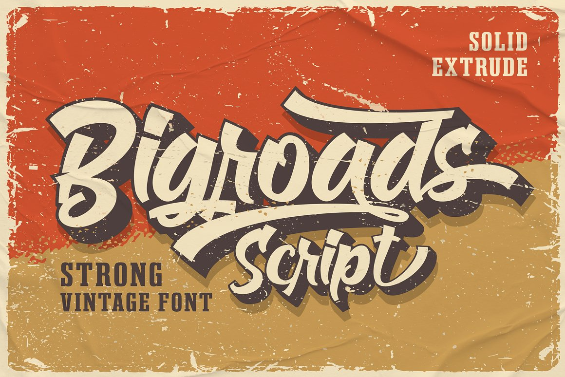 Bigroads Script Retro Font -1