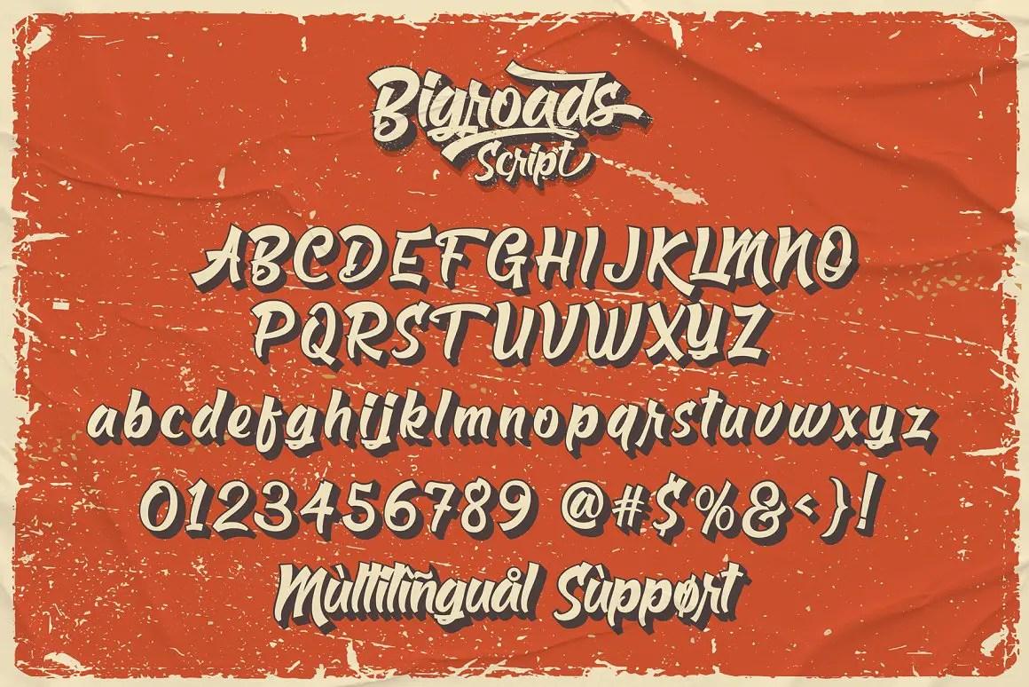 Bigroads Script Retro Font -3