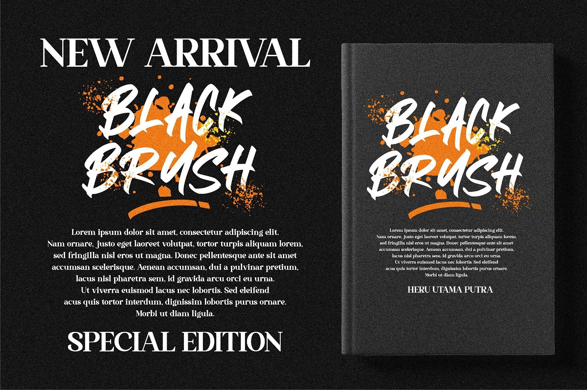 Black Brush Display Font-2