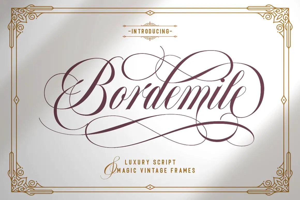Bordemile Luxury Script Font -1