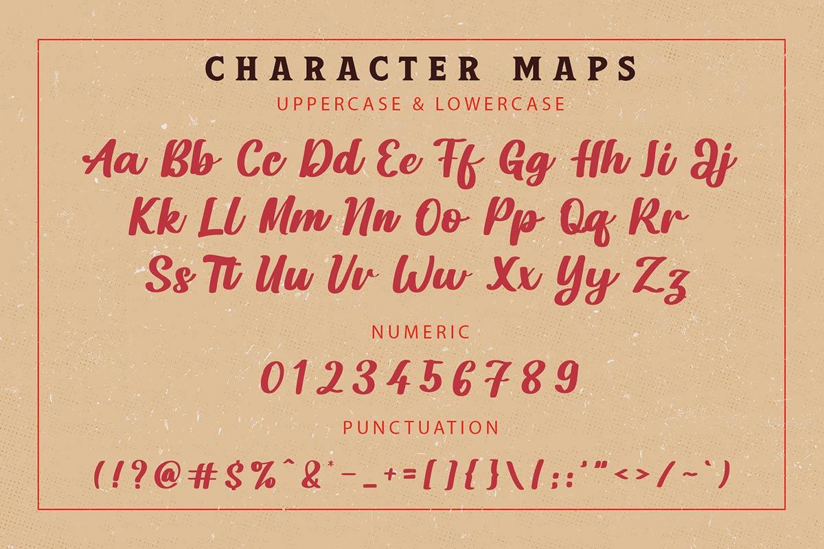 Dakota Artha Bold Script Font -3