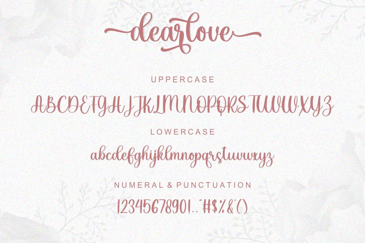 Dearlove Calligraphy Font -3