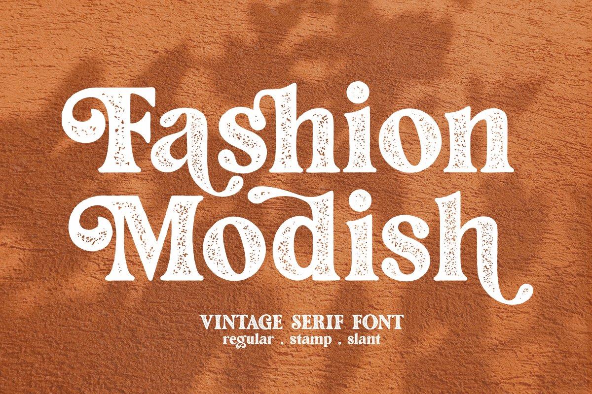 Fashion Modish Vintage Letterpress Font -1