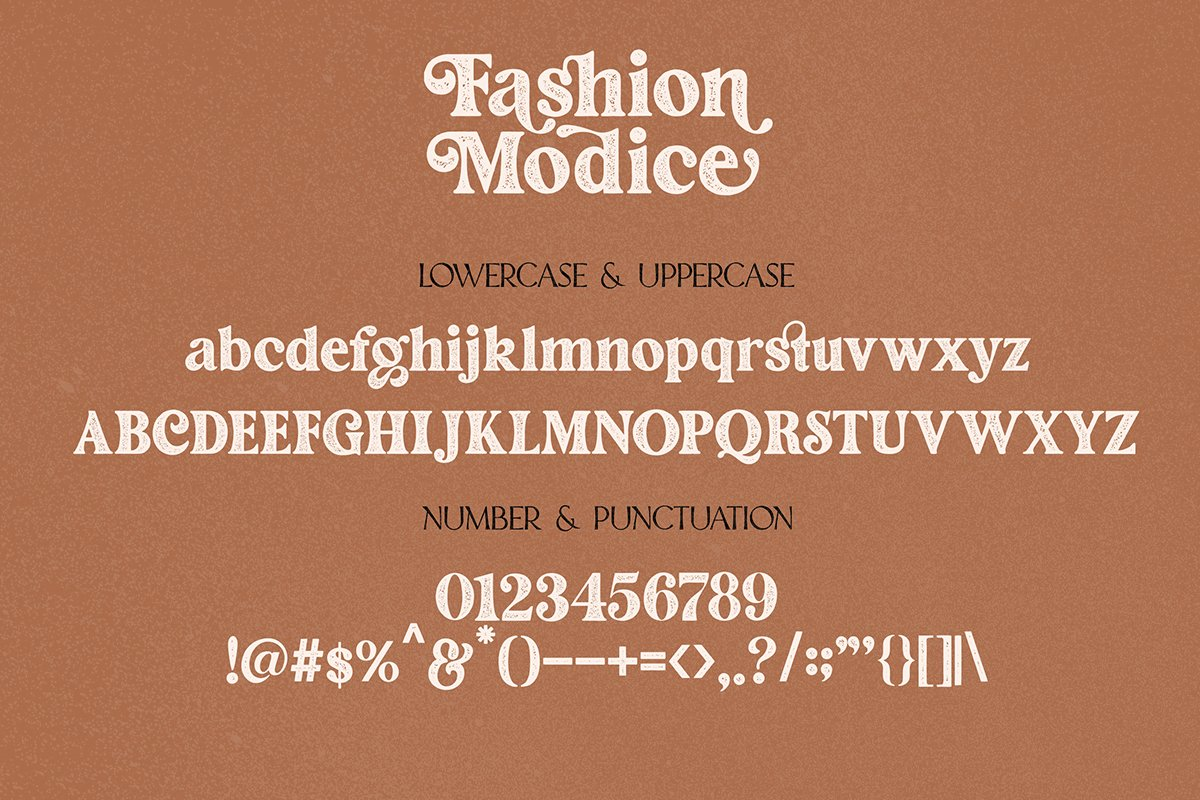 Fashion Modish Vintage Letterpress Font -3