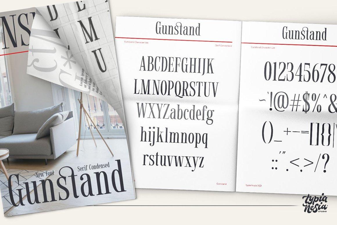Gunstand Condensed Serif Font -3