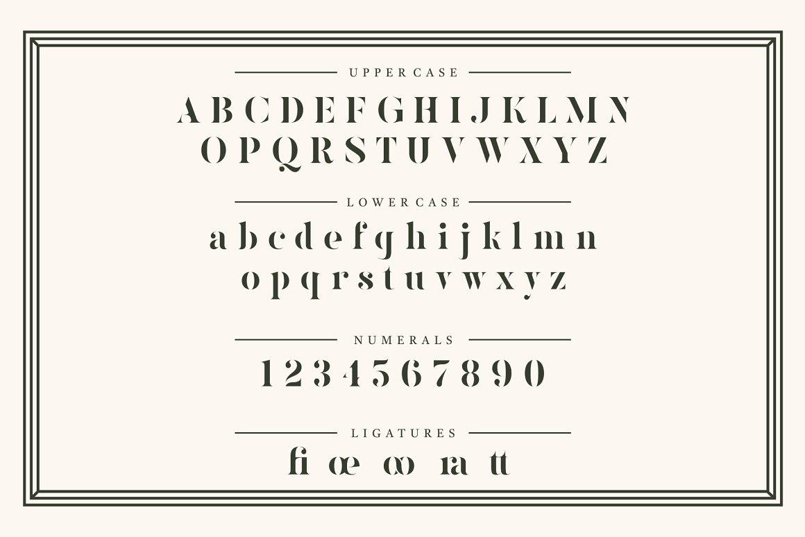 Kinlock Elegant Stencil Serif Font -2