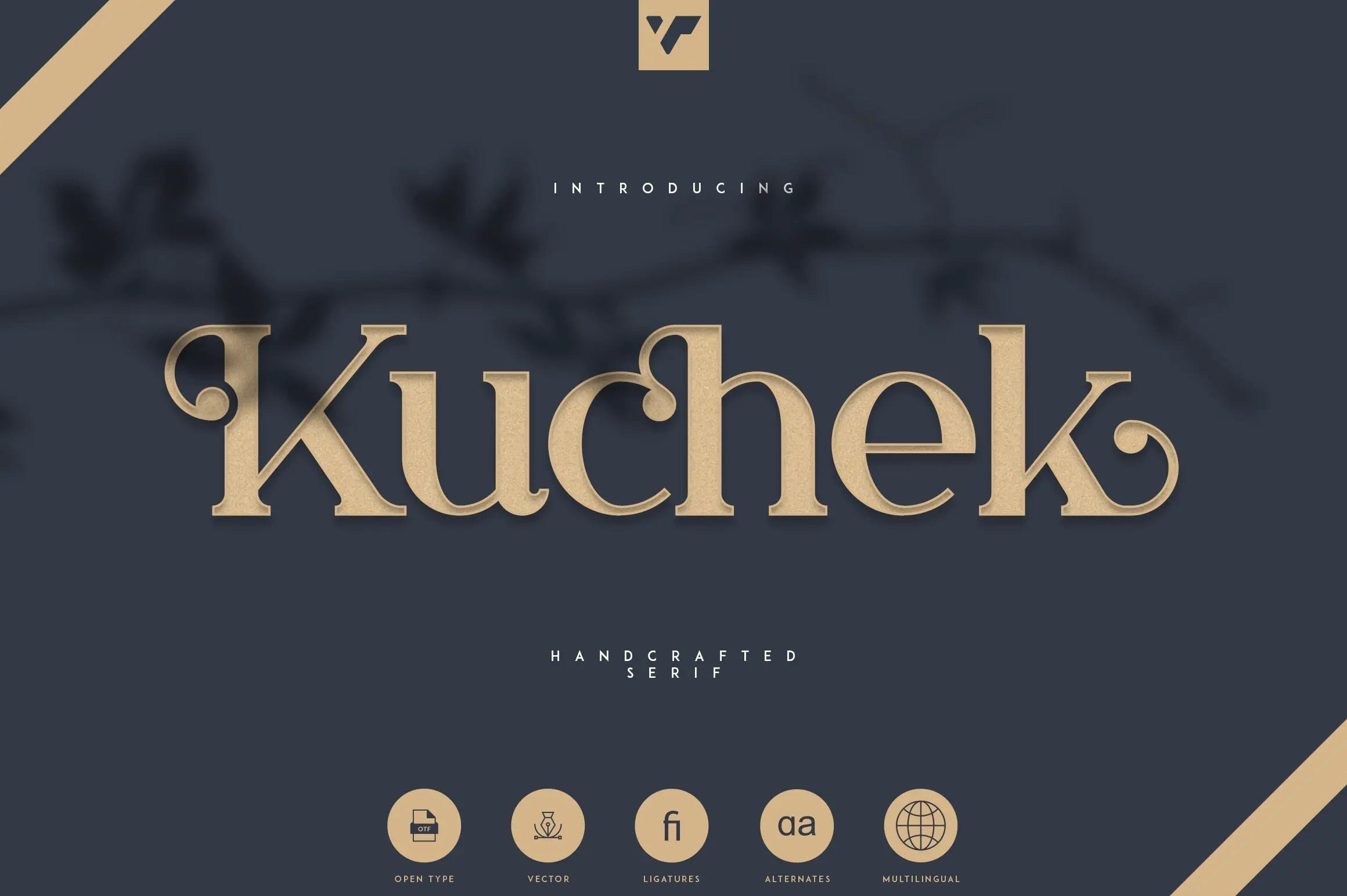 Kuchek Handcrafted Serif Font -1