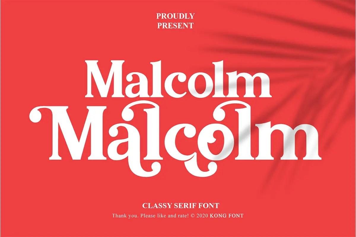 Malcolm Serif Font -1
