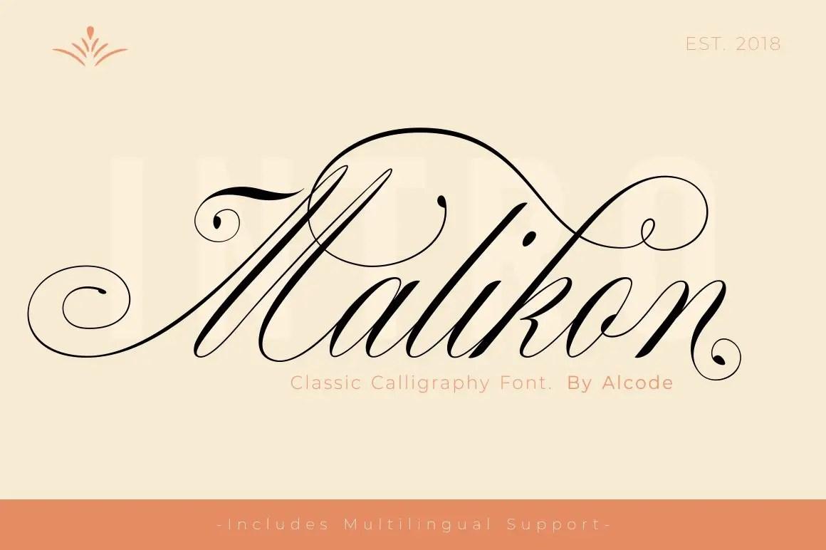 Malikon Classic Calligraphy Font -1