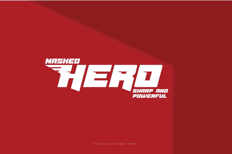 Masked Hero Bold Techno Font -1
