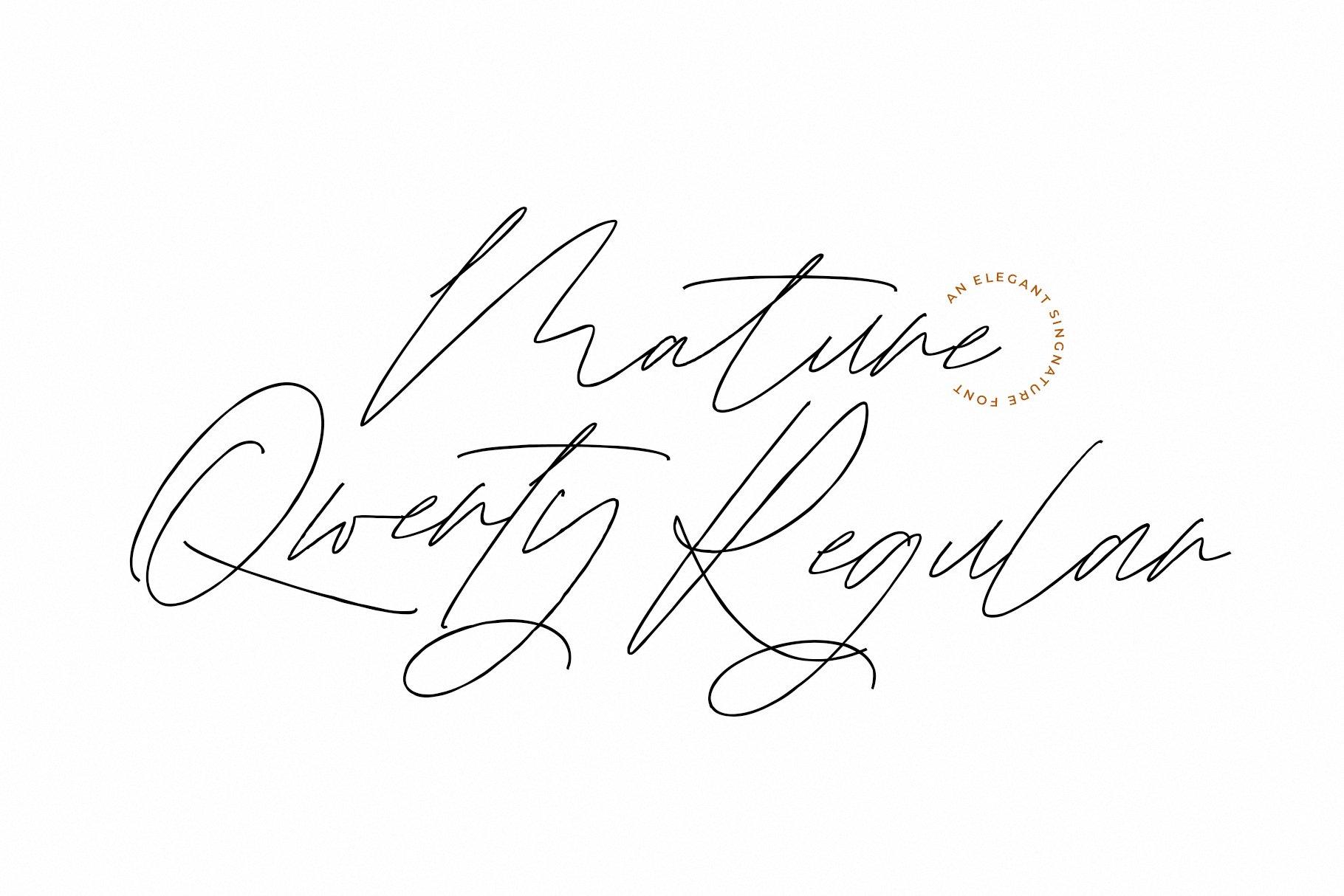 Mature Qwerty Signature Font -2