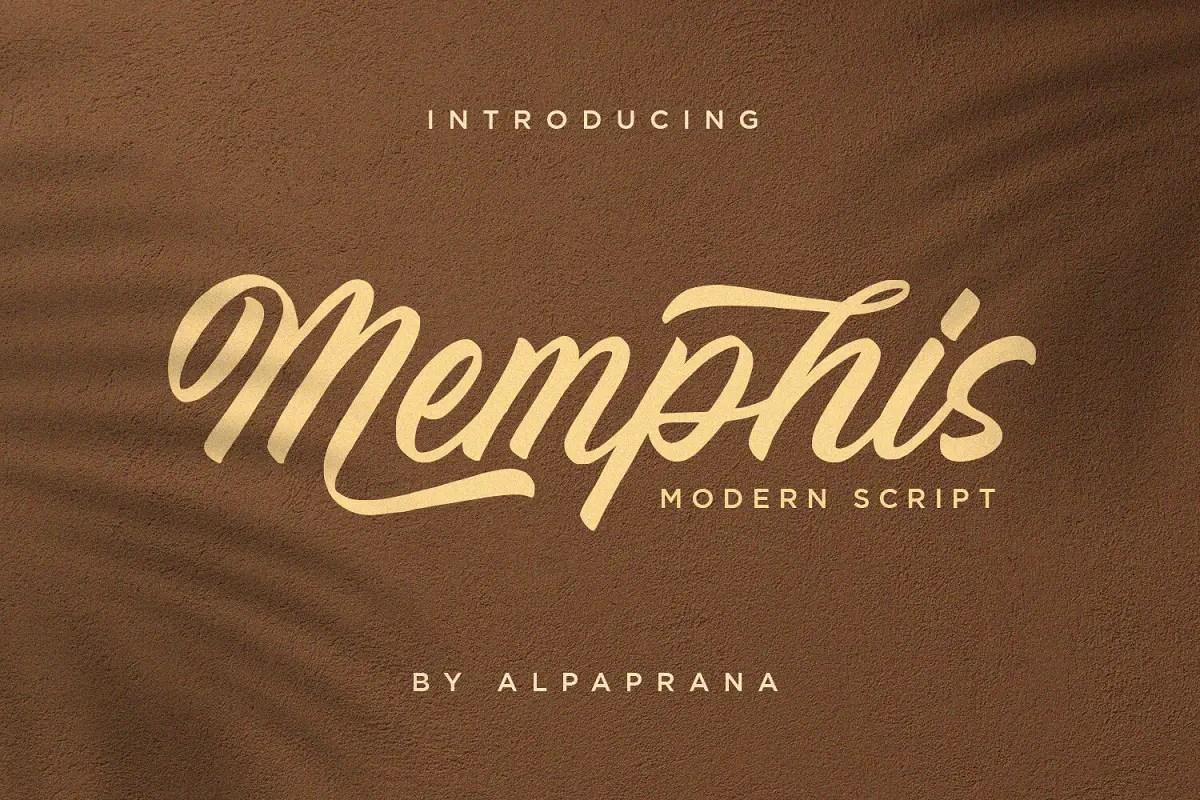 Memphis Modern Script Font -1