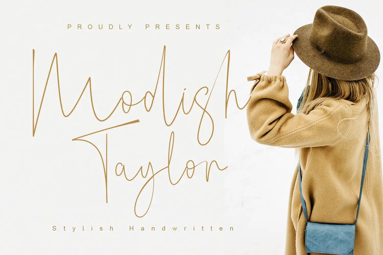 Modish Taylor Handwritten Font -1