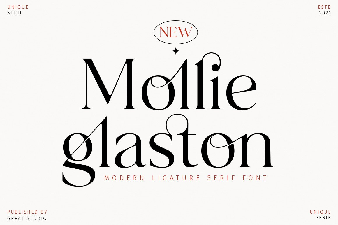 Mollie Glaston Modern Serif Font -1