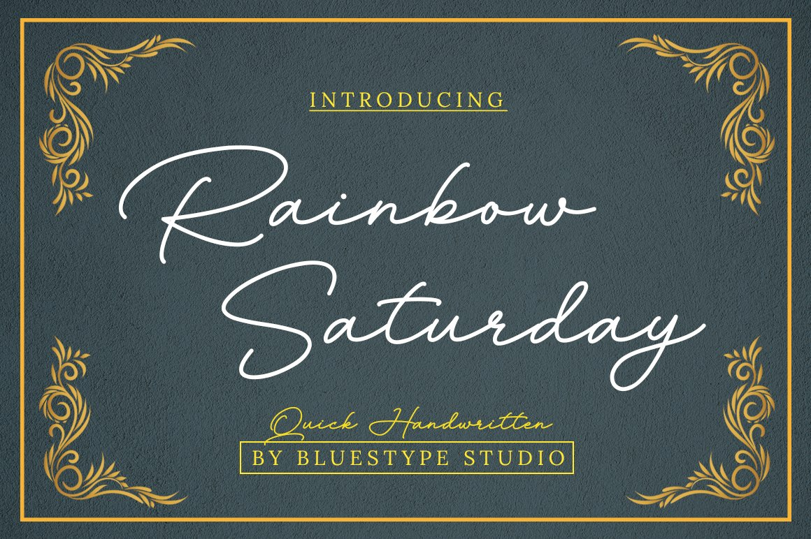 Rainbow Saturday Signature Font -1