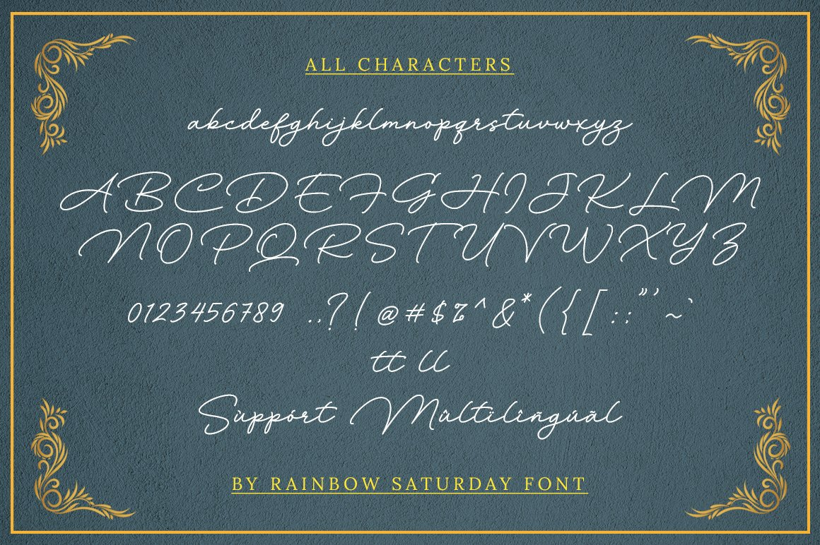 Rainbow Saturday Signature Font -3