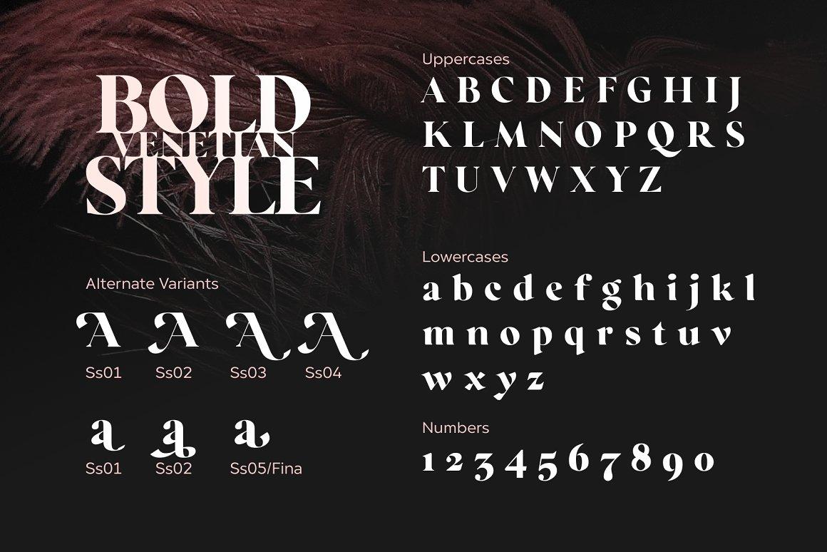 Regatto Venetian Style Typeface -3