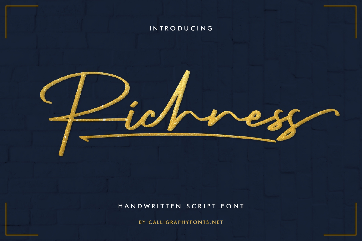 Richness Signature Handwriting Font -1