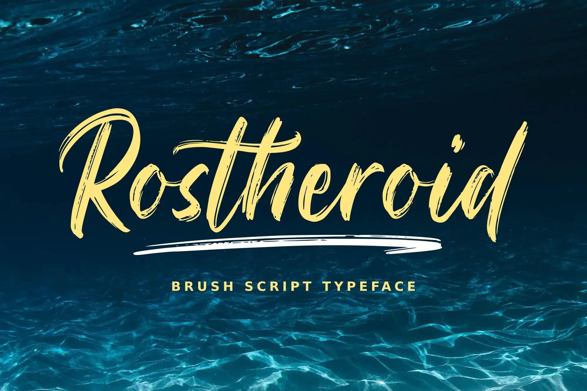 Rostheroid Script Brush Font -1