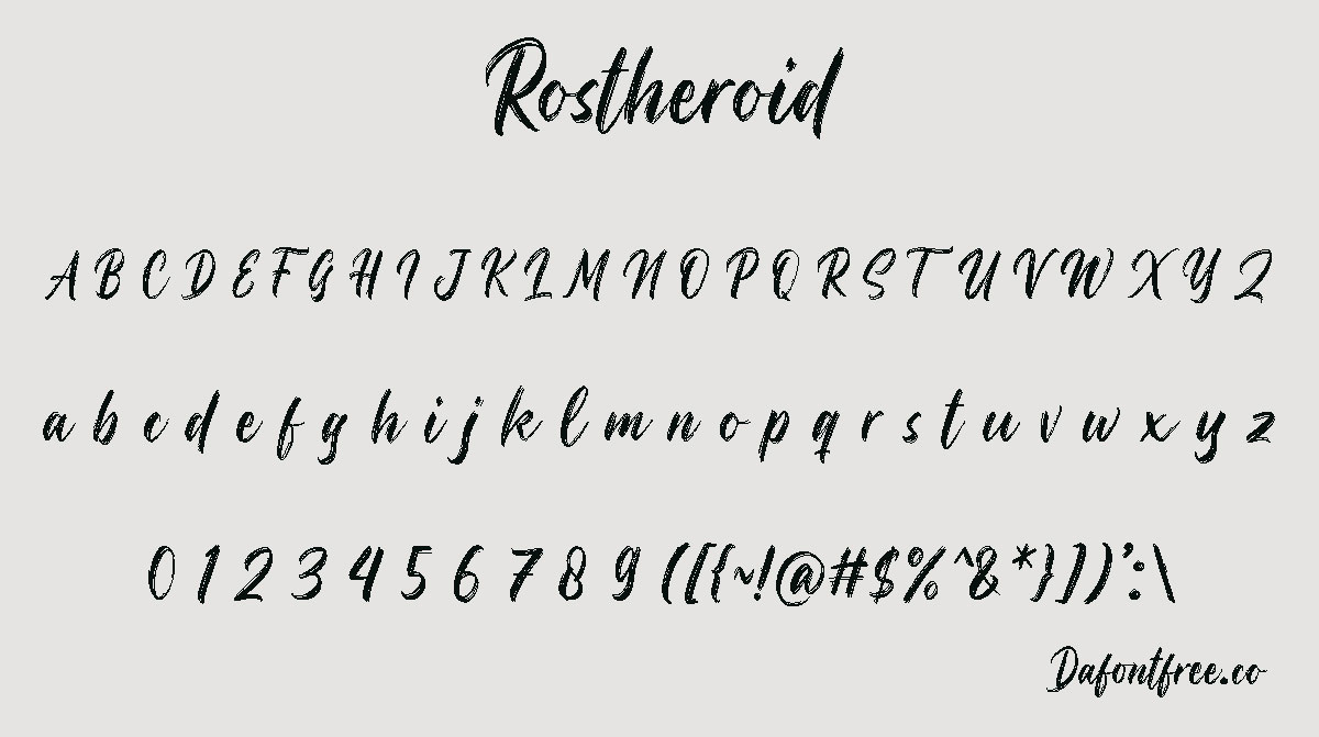 Rostheroid Script Brush Font -2