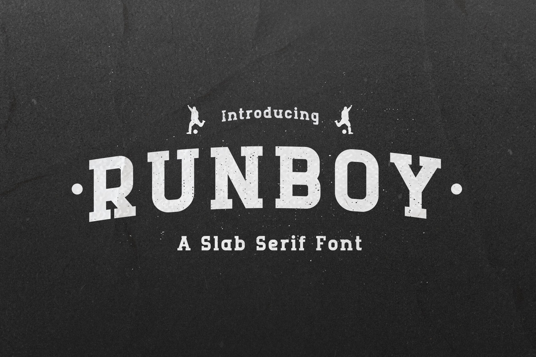 Runboy Strong Slab Serif Font -1