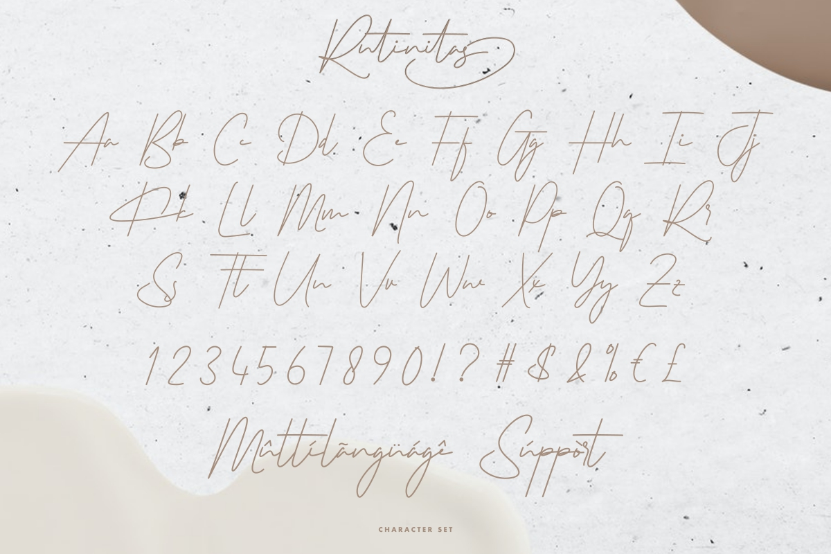 Rutinitas Signature Handwriting Font -3