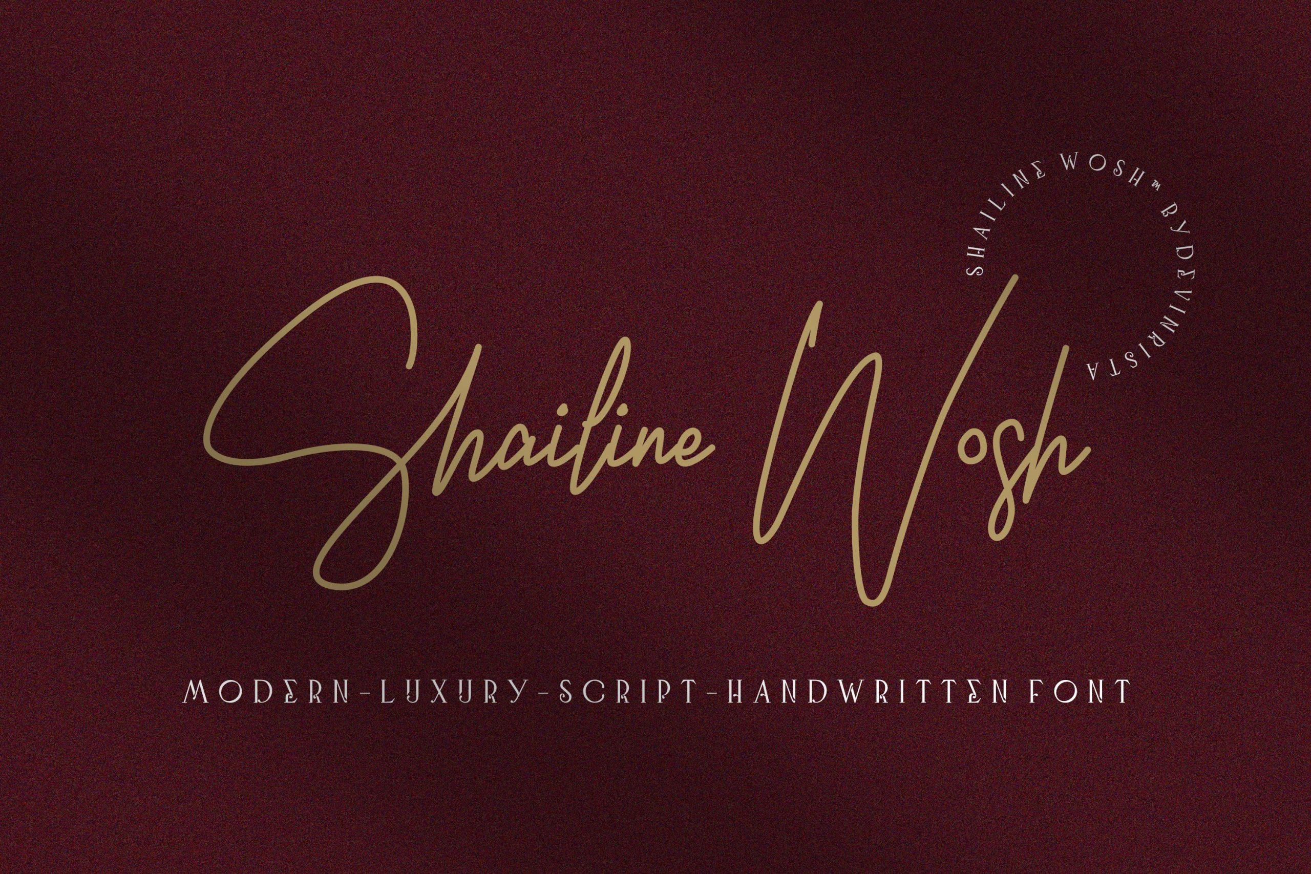Shailine Wosh Modern Handwritten Font -1